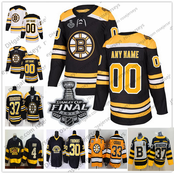 best loved 7da70 70618 2019 Boston Bruins 2019 Stanley Cup White Jersey Black 74 Jake DeBrusk 90  Marcus Johansson 14 Chris Wagner 27 John Moore 25 Brandon Carlo From ...