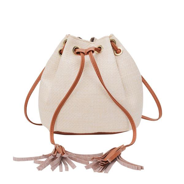 Bolsa de mensajero bolsas de damas del lazo de hombro de las mujeres de la nueva manera salvaje Cubo de tendencia gran bolsa crossbody Capacidad bolsos femeninos