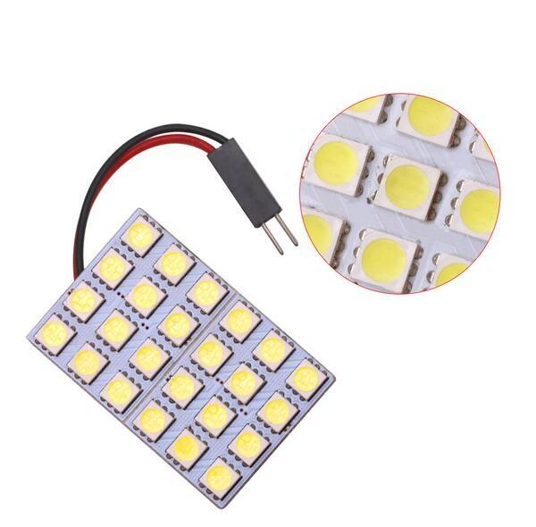 Free Shipping T10 BA9S Festoon Socket 5050 24SMD Car LED Dome Light Reading Panel Light 12V Car Reading Bulbs