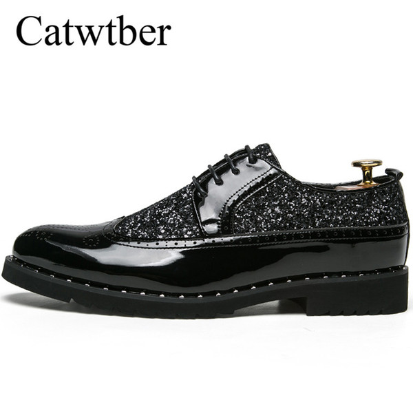 Catwtber Man Dress Shoes Black Slip on Classic Shoes for Male Spring Autumn Man Business Anti-slip Rubber Bottom Suit Foot