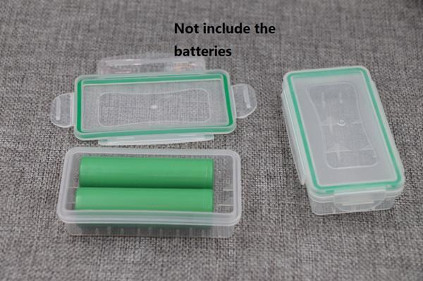 Clear Plastic Waterproof 18650 Battery Storage Case Holder Organizer 18650 16340 Batteries Hard Plastic Protective Case Battery Storage Box