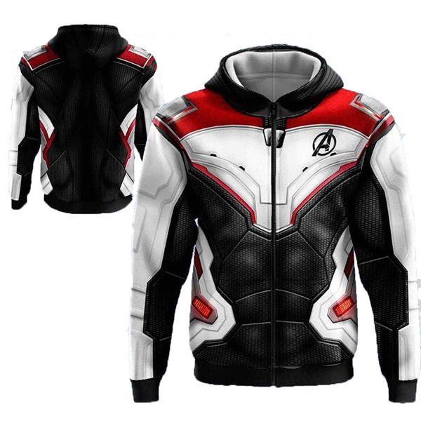 Marvel The Avengers Herren Designer Sweatshirts Rundhalsausschnitt Langarm Mode Quantum Warfare American Style Homme Kleidung