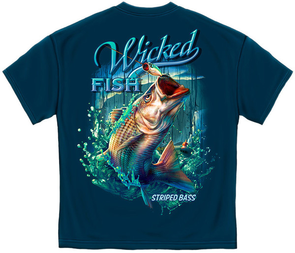 STRIPPED BASS Fish Fishing Hook Lure T Shirt Boating Ocean Wicked Fish Tee S-3XLFunny free shipping Unisex Casual Tshirt top