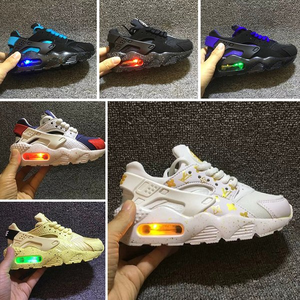 2018 New Air Huarache Infant Baby Kids Running Shoes Mesh Cushion Lighting Huraches Huaraches Toddler Designer Sneakers Eur 26-35