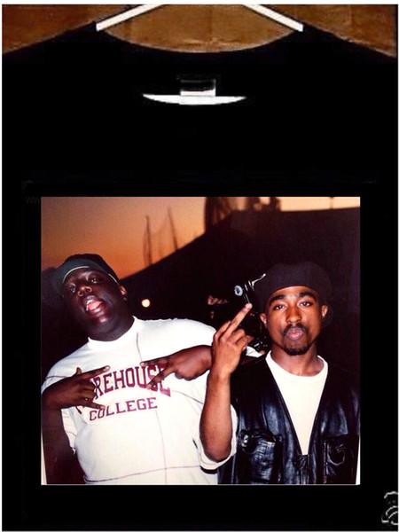 2pac and Biggie T shirt; Notorious BIG Tupac Tee Shirt size discout hot new tshirt