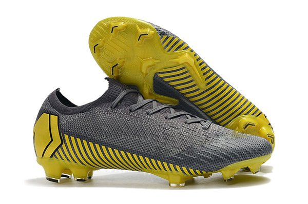 Grey Yellow Low Ankle