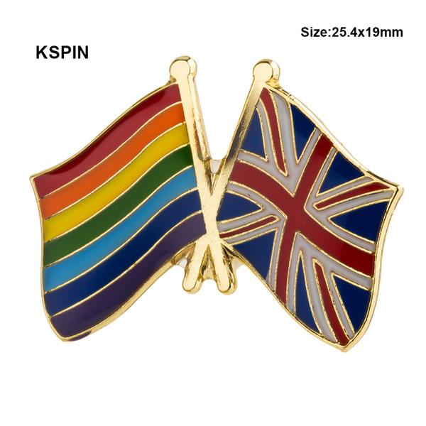 Радуга Соединенного Королевства Флаг Значок Штыря Отворотом Значок Штыри Отворота Значки Брошь XY0148