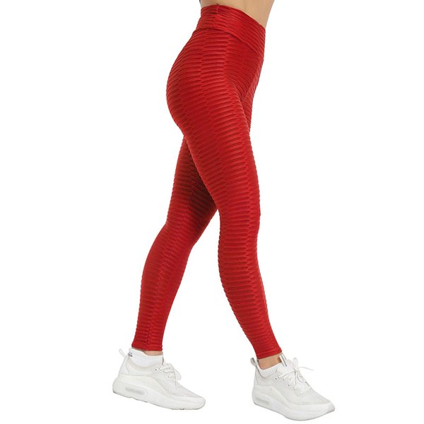 NORMOV Workout Women Leggings Fitness High Waist Elastic Push Up Striped Ankle Length Polyester Leggin Casual Solid Leggings