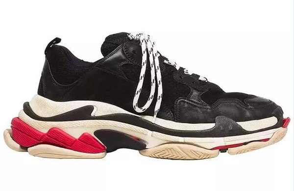 Paris 17FW Üçlü-S Yürüyüş Ayakkabı Lüks Baba Ayakkabı chaussures femme Üçlü S 17FW Sneakers Erkekler Kadınlar için Vintage Eski Büyükbaba Eğitmen Açık