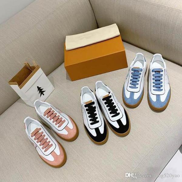 2019 Neue Ankunft Casaul Leder Rivoli Turnschuhe Mode Stickerei Buchstaben Flache Freizeitschuhe 2019 Frau Klassische Trendy Luxus Designer Schuhe