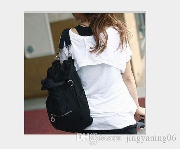 Women's Canvas Shoulder Bag new Korean version casual fashion bag female hand carry shoulder back multi-purpose travel bag