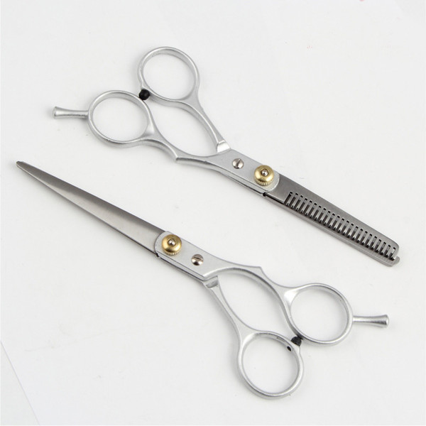 Barber Hair Cutting Thinning Scissors Hairdressing Styling Tool Stainless Steel Hair Scissors two types Barber accessories