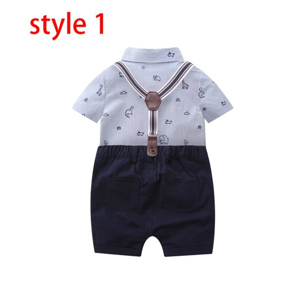 Toddler Baby Boys Gentleman Bow Tie T-Shirt Tops+Solid Shorts Overalls Outfits
