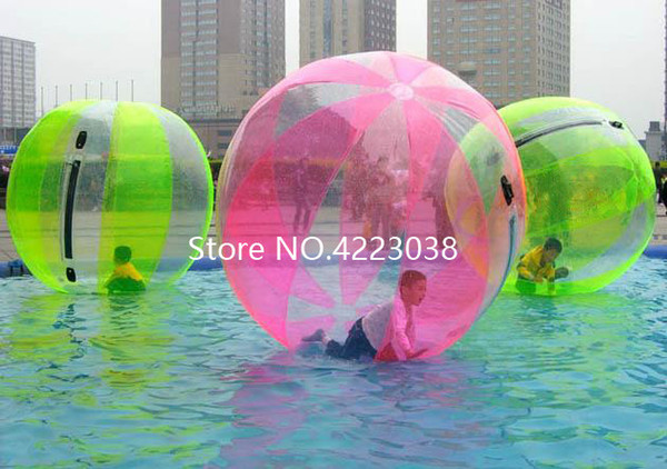 Free Shipping Factory Price 2m 0.8mm Inflatable Water Walking Ball Zorb Ball Giant Water Ball Inflatable Human Hamster Balls