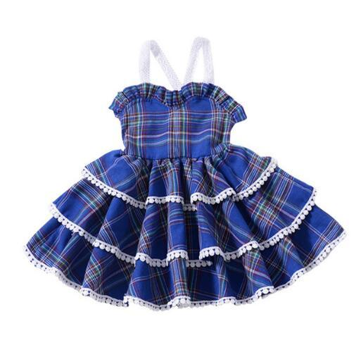 2019 New Baby Girls TuTu Dress New Summer Casual Style Sweet Square Collar Design for Baby Girls Clothes TuTu Dresses