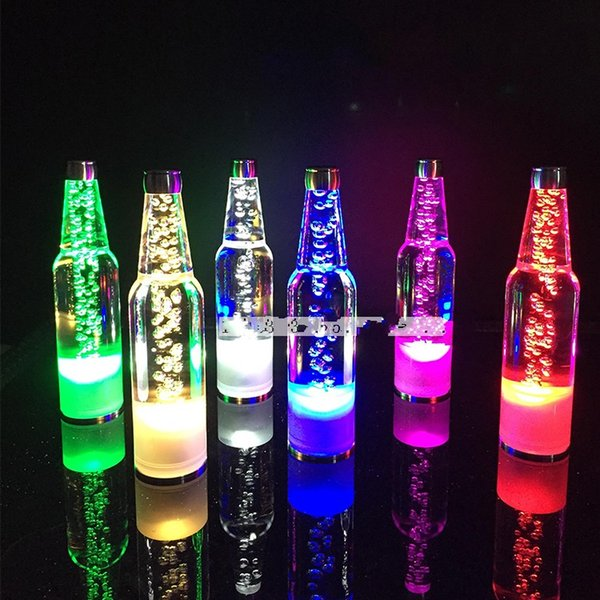 New fashion rechargeable led beer wine Bottle Lamps glowing led Night lights wedding table centerpieces Bar disco Party supplies