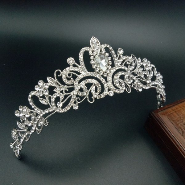 8 Designs Silver Rhinestone Wedding Bridal Tiara Crowns For Girl/women Pageant Crown Hair Ornaments Hair Jewelry Accessories C19022201