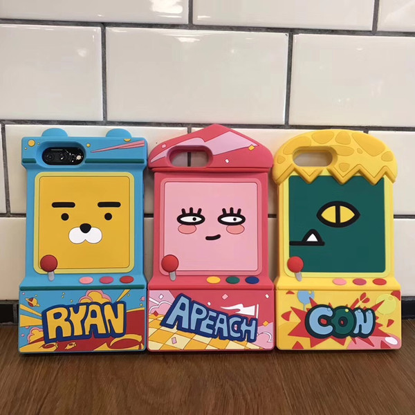 Lion Peach Game Console Phone Case Cartoon For Iphone 6 7 8 X Plus Xs All-Inclusive Soft Silicone Cell Phone Cases