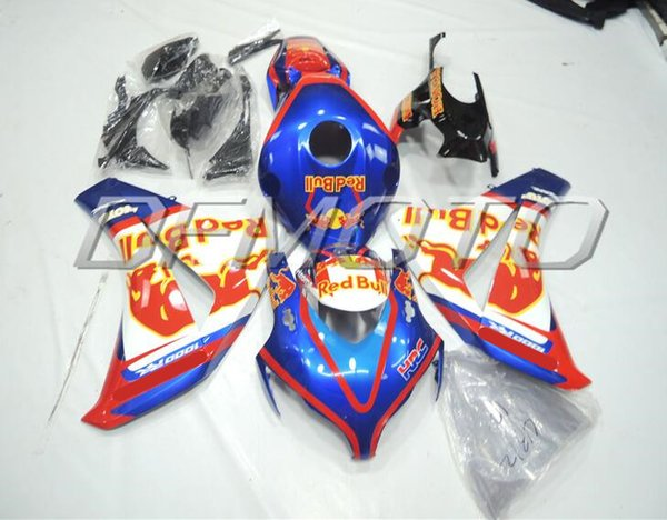 New Injestion Mold ABS motorcycle Full Fairings Kits+Tank cover Fit For HONDA CBR1000RR 08 09 10 11 2008 2009 2011 body set custom blue HRC