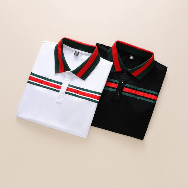 hot new Men POLO Shirt Fashion Polo Masculinas Turn Down Collar Slim Fit Short-sleeve Polos shirts Men's Summer Tops