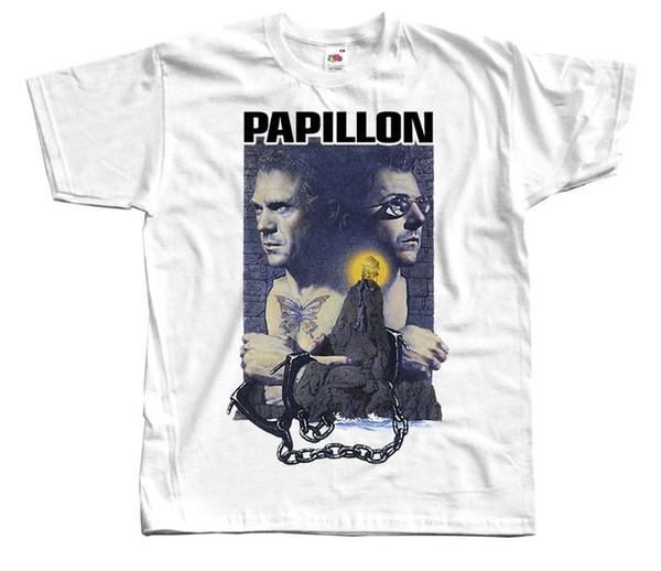 Papillon T-shirt black Movie Poster all sizes S...5XL