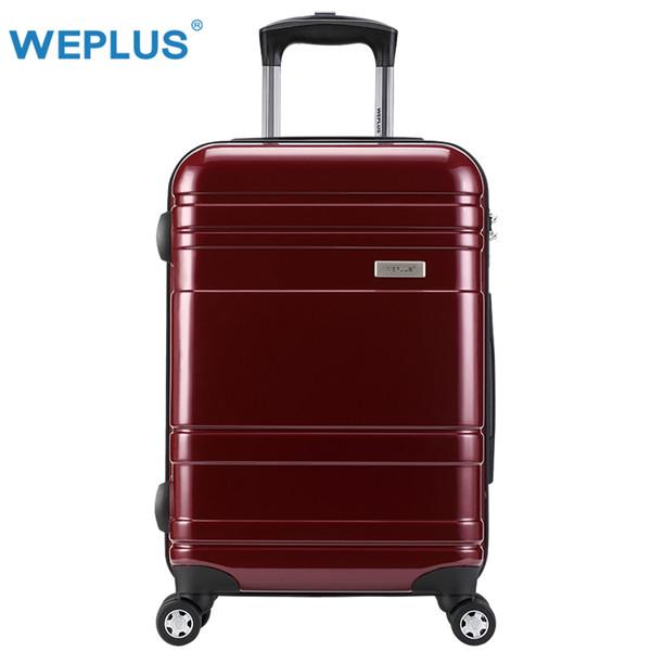 WEPLUS PC Koffer Bunte Rollgepäck Reisekoffer mit Rädern TSA Schloss Spinner Benutzerdefinierte Stange Box Frauen Männer 24 Zoll