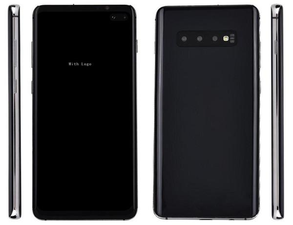 Free DHL Goophone cell phone S10 plus 6.4 inch Quad Core Android 3G WCDMA 1GB RAM 8GB 16GB 40GB ROM Fingerprint Unlocked