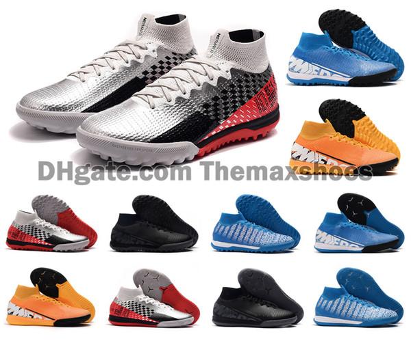 2019 Yeni Mercurial Superfly 7 VII 360 Elite TF IC Kapalı Çim CR7 Ronaldo Neymar NJR Erkek Futbol Ayakkabı higt Futbol Boots Kramponlar Boyutu 39-45