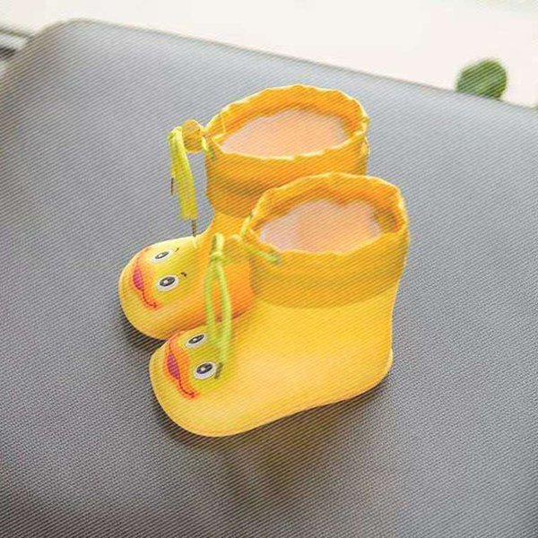 Baby Raincoat Rain Boots Set 2 Children Rain Boots Boys 1-3 Years Old Children Anti-skid Children Glue Shoes Girls