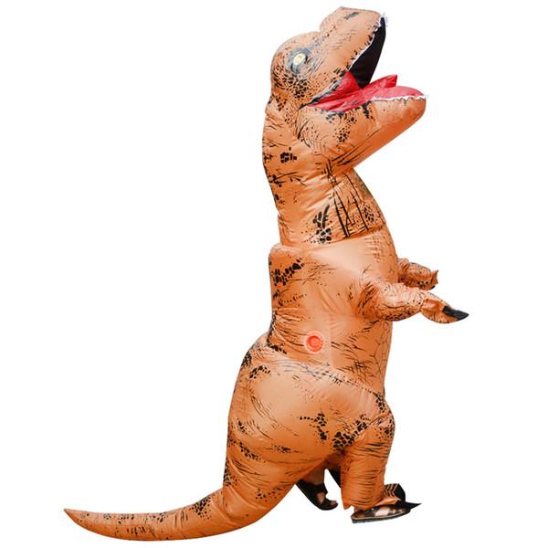 giocattoli cosplay costume del partito del costume gonfiabile per adulti dinosauro gonfiabile T REX Costume Jurassic World Park Blowup Dinosaur