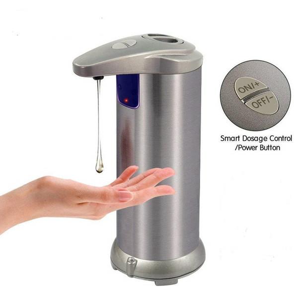 Automatische Seifenspender Dusche Badewanne Edelstahl Sensor-Seifen-Shampoo Spender für Badezimmer Washroom C1