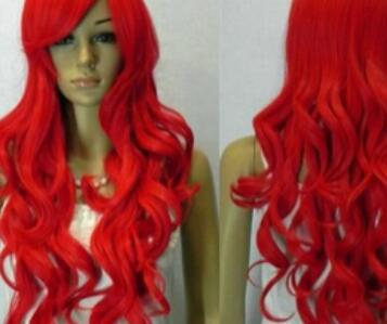 LL 2135 HOT Red !!! Long Wavy Cosplay Anime fiesta Synthe