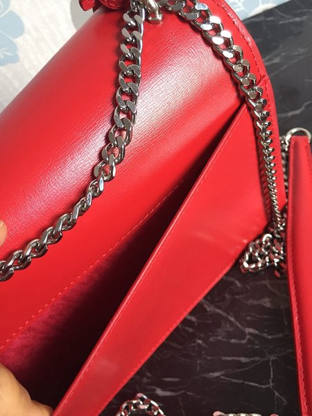 Red Silver chain