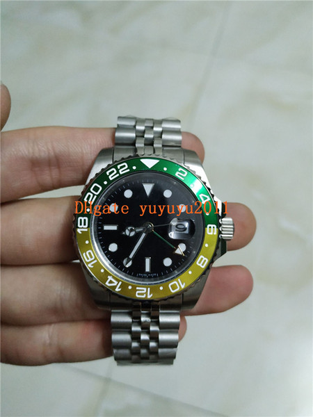 2019 nueva llegada reloj de lujo de alta calidad para hombre relojes verde amarillo Bisel 2813 acero inoxidable automático para hombre Relojes ww002