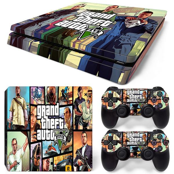 Fanstore Skins Sticker Decal di protezione Serie completa di GT per Playstation PS4 Slim Console e 2 di telecomando disegno freddo