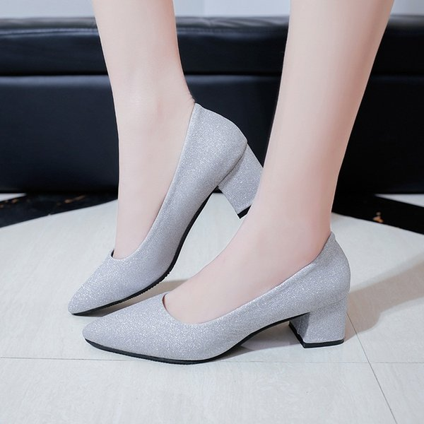 Styles Cheap Korea Flights Shoes Sapatos Feminino Fashion Womens Sexy Low Mid Kitten Heels Shoes Pu Patent Leather Pointed Pumps Size 35-40