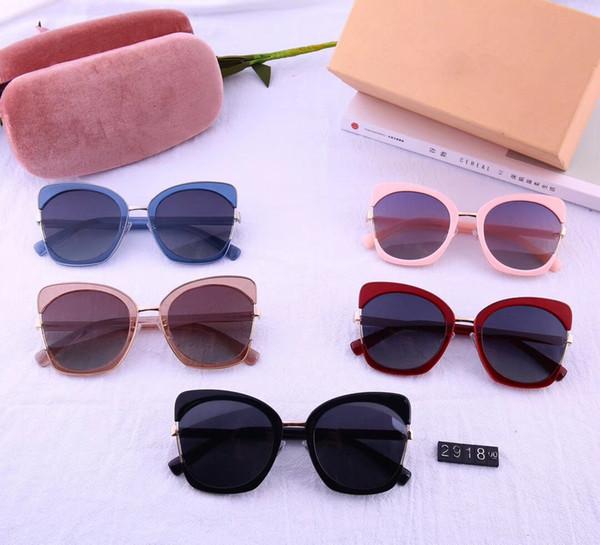 Marca diseñada a la moda dama mariposa gafas de sol de alta calidad TR hd polarizing sunglasses 2918 anti uv gafas de sol