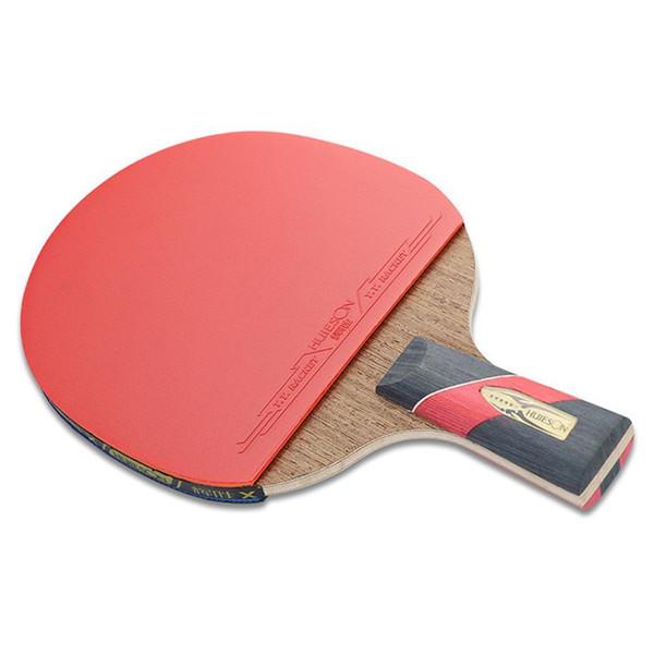 Aperto horizontal da tabela curta longa poderosa de pouco peso do punho do carbono, raquete de tênis reta do aperto 5 camadas
