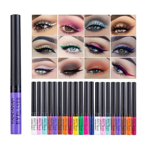 12 Renkler Mat Eyeliner Uzun Ömürlü Su Geçirmez Eyeliner Hızlı Hızlı Kuru Sıvı Eyeliner Göz Farı Parti için