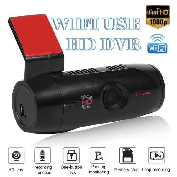 Cámara DVR para coche Full HD 1080P ABS USB Hide Mini 30FPS DVR Dash Camera Recorder Wifi Night Vision 140 Wide Angle Driving Recorder