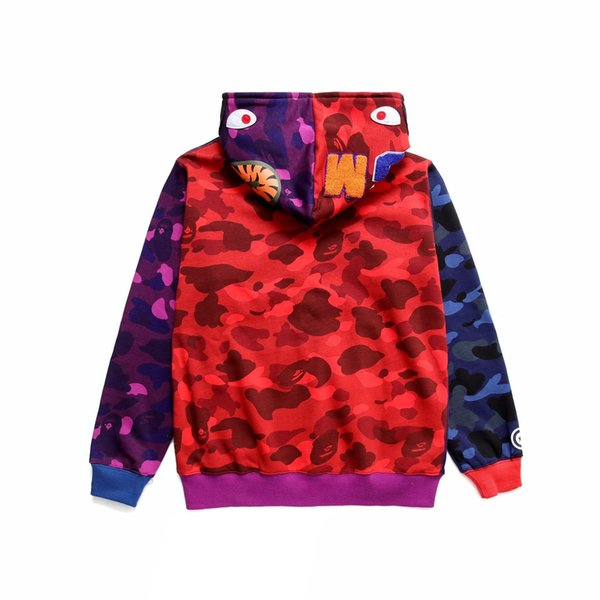 Man Thin Hoodie Camouflage Lapel Cardigan Motion Leisure Time Pullover Fashion Trend Sweater Loose Coat New Style