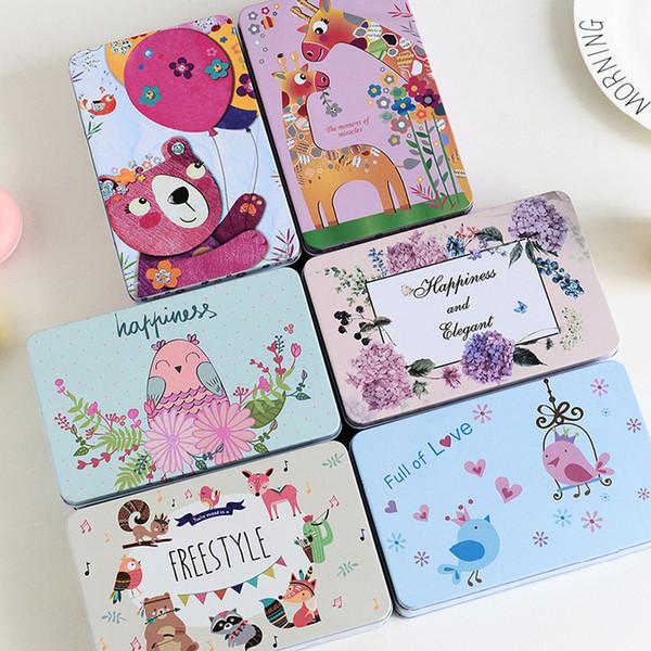 Süß und niedlich Dose Box Aufbewahrungsbox mit Deckel Keks Candy Iron Boxen Mac Kosmetik Kleinigkeiten Aufbewahrungskoffer