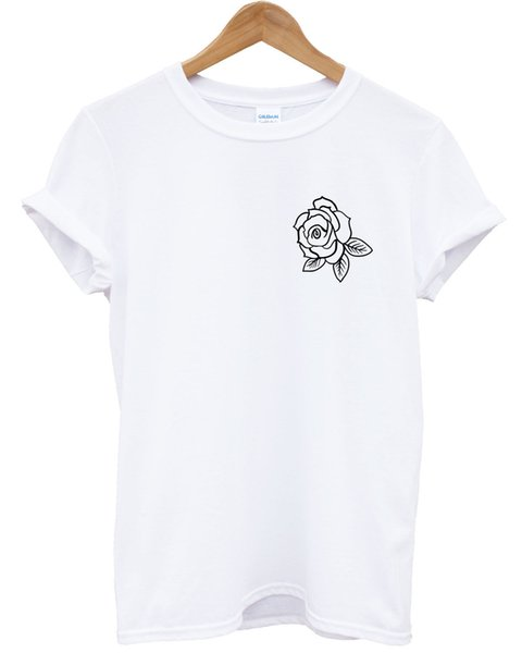 Rose Print Logo T-Shirt Top Mens Ladies Kids Cute Top Cool Tattoo Style L335 fear cosplay liverpoott