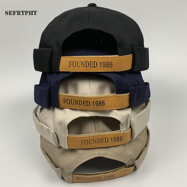 Nouvelle arrivée hommes casquette Casual Sailor Mechanic Biker Chapeau Bonnet Crâne Chapeau Brimless Cap Mode Unisexe casquette de designer citrouille Vintage Marine Bonnets