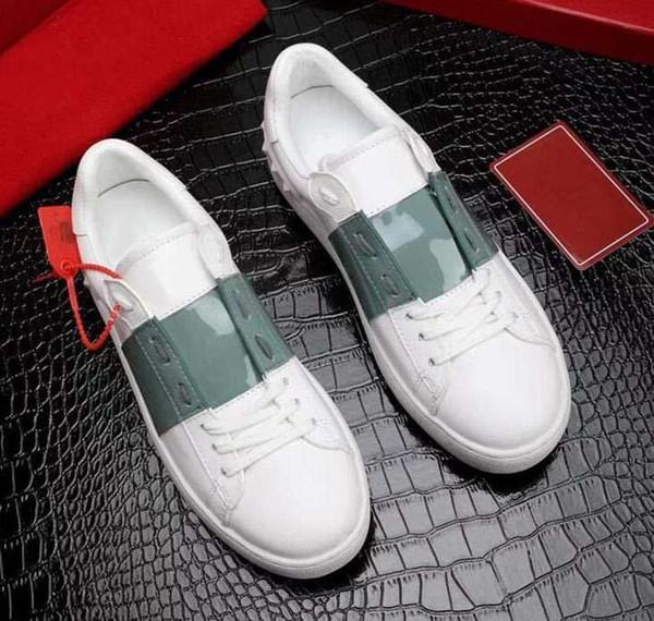 En iyi Hediye marka Ayakkabı En Kaliteli Tasarımcı sneakers Hakiki Deri ünlü Adam Kadınlar Altın çivi ile Rahat Ayakkabı Yürüyüş 12
