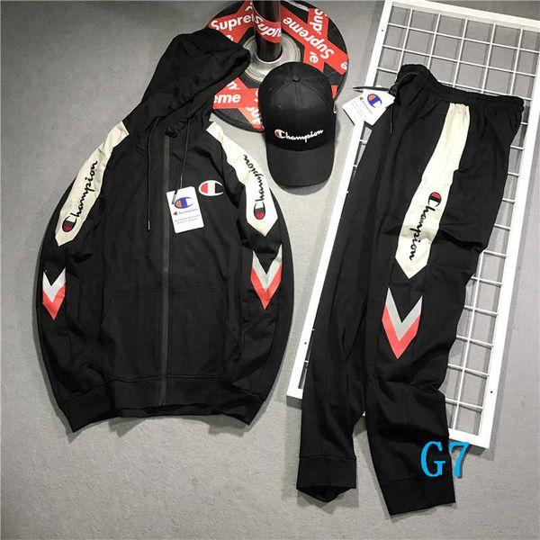 Marque Hommes Survêtement Marque Femmes Mode Pantalons Vestes avec fermeture à glissière Marque Hommes à capuchon Veste Survêtement Plus Size Asian L-5XLG7