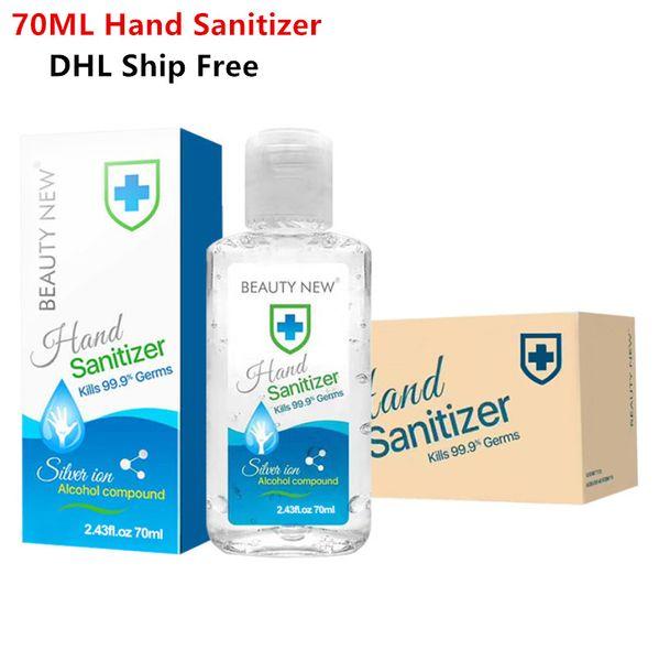 best selling 2020 Hot Sale Disposable Hand Sanitizer Mini Travel Gel Disinfection Sanitizer Washfree 70ML Hand Sanitizer Kills 99.9% Germs DHL Ship Free