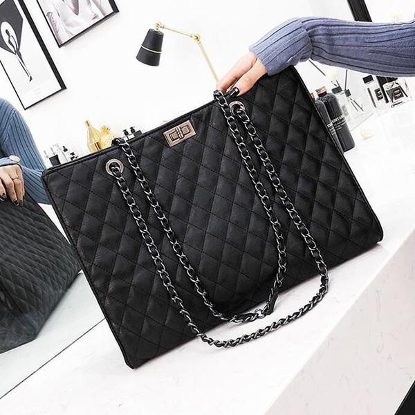European Style Retro Handbags 2019 Fashion New High-quality Pu Leather Women's Designer Handbag Big Tote Bag Chain Shoulder Bag