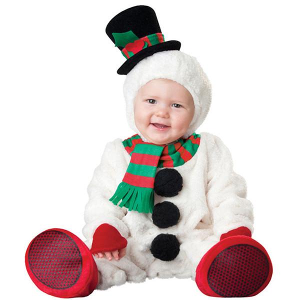 Christmas gift hot baby jumpsuit Santa Claus clothes kids overalls newborn boys girls romper children snowman costume