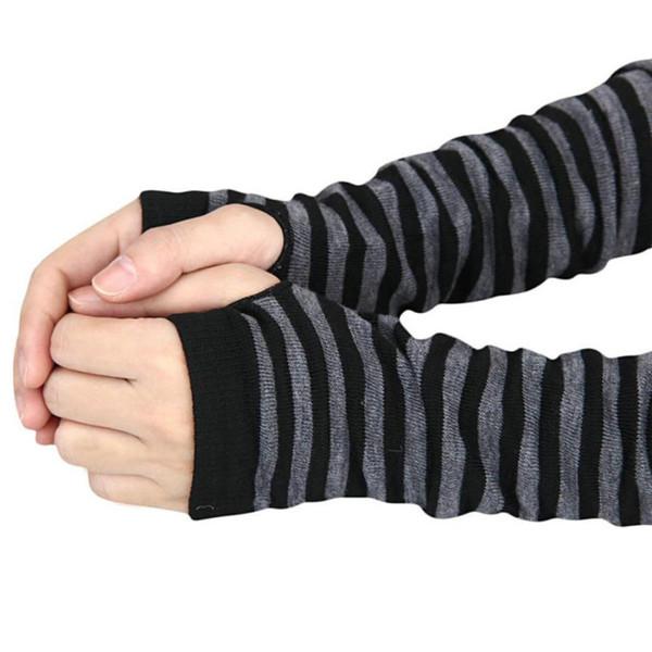 Winter 2019 New Wrist Arm Hand Warmer Knitted Long Fingerless Gloves Mitten Men Women Gloves Drop shopping #30